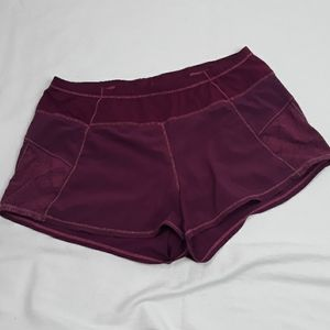 Athleta Burgundy Running Shorts  sz Medium
